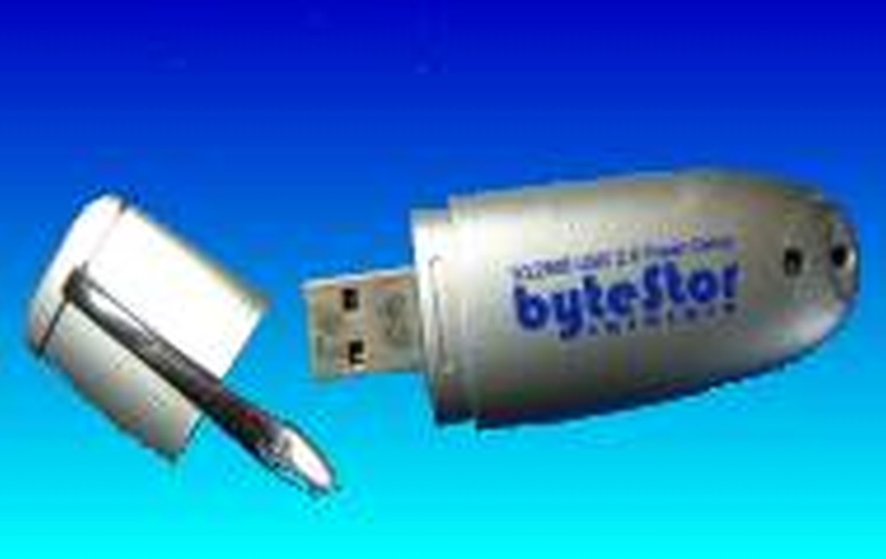 A Bytestor Flash Drive that had a faulty USB connector and was sent to us for repair.