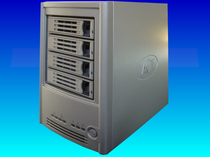 A Lacie Biggest Quadra external drive with Firewire, usb and eSATA connections awaiting data recovery in our labs.