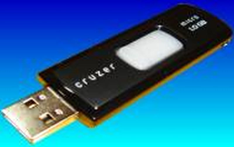 A Sandisk Cruzer USB pen drive with lost files awaiting data recovery in our labs.