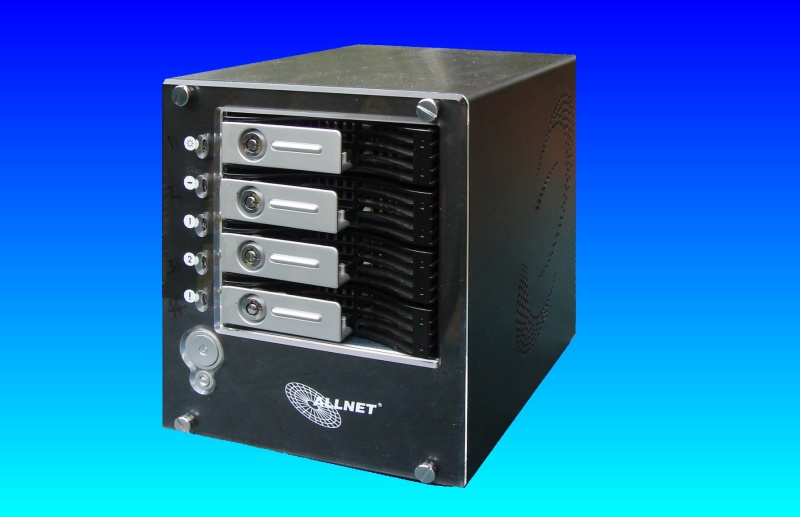 AN Allnet All-6400 which used 4 hard drives in a raid5 array. The nas box overheated after a fan failed, and needed to recover data from the raid5.