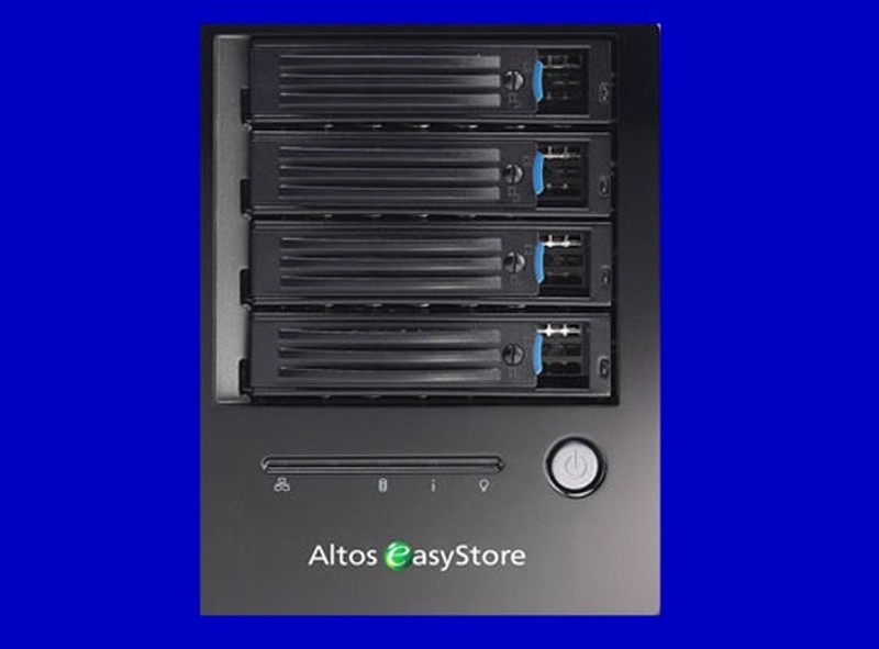 An Acer Altos Easystore that has lost its share folder access due to raid corruption after a power cut.