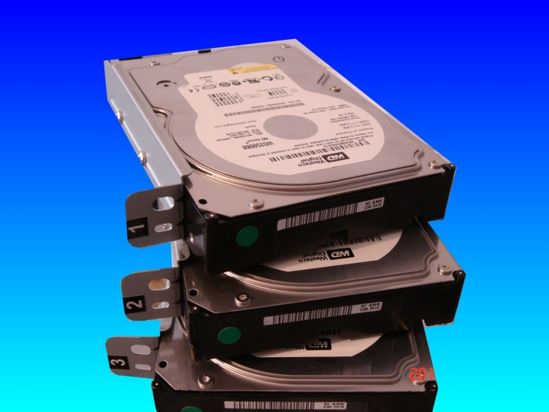 4 hard drives from a Buffalo Drivestation Quattro after the unit would not power up and appeared dead. Prior to that one drive had failed and the raid card was reported faulty.