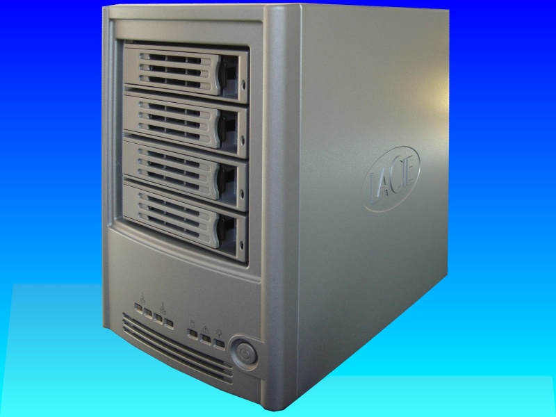 A Lacie server that failed after a power cut.