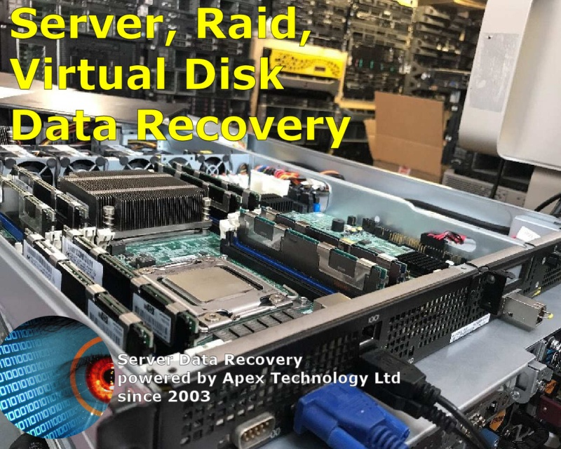 We recover data from Servers with Raid 0 1 5 6 10 Mirror and JBOD spanning problem. Restore Lost raid configuration after power cut.