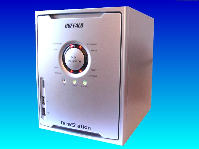 A Terastation that exhibited E13 error. It would not mount the raid array and beeped its alarm and flashed the red lights.