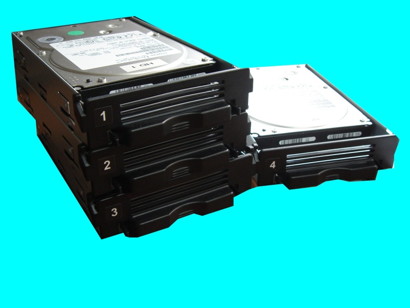 Hard Disks that were removed from a Terastation that displayed E14 error when it couldn't Mount the Raid Array. Following that it went into I12 degraded mode before being sent to us to recover the files.