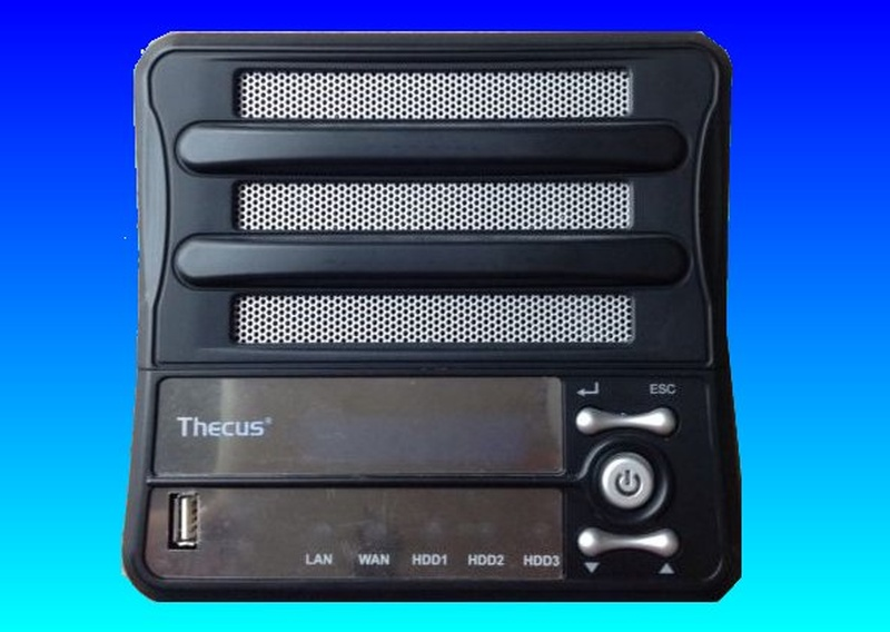 A Thecus 3200 drive whose raid 5 array had failed across the 3 internal hdd.