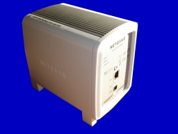 An SC101 raid drive which houses 2 IDE hard drives and presents data via the network ethernet connection. These units are well known for loosing data after firmware upgrade.