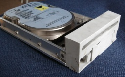 An hard drive from an old adpatec raid server.