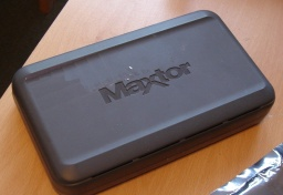 An external USB Maxtor hard drive. This model is a Personal Storage 3200 - that arrived with uds for data recovery after it remained silent after being powered. Tests showed there was no power going to the disk.