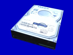 A Maxtor hard drive, with SATA connector that was used in a Raid. The raid aray needed to be rebuilt after the system failed to boot up.