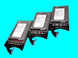 3 scsi hard drives that were used in a Dell Netware server. 2 of the 3 raid disks in the array had failed so were awaiting recovery in our lab.