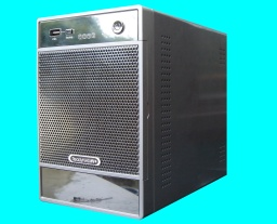 A Readynas raid drive that performs as a NAS device. This drive was made by Netgear, but later Infrant made them as well. This drive had been reofrmatted and then re-partitioned, and the drive appears unavailable in the control console.