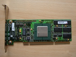 An Intel SCSI card that was used by a school to control 4 SCSI hard drives in a raid5 array. The Raid 5 went down so there was no access to the files, therefore it was sent to us for data recovery from the SCSI disks.